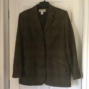 Women's Orvis Tweed Blazer Jacket Size 16